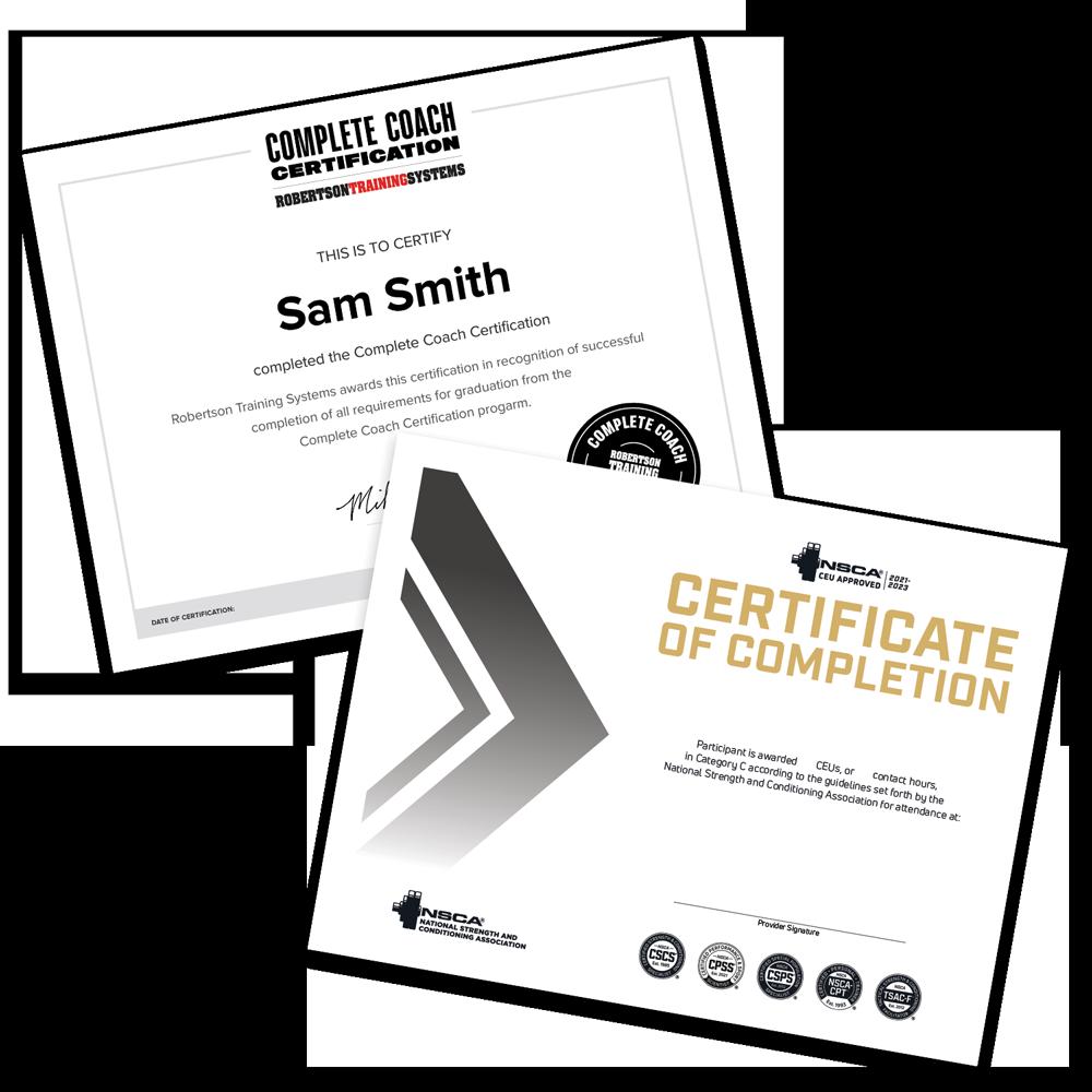 CEU certificates